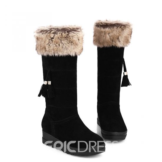 Winter Sweet Suede Tassels Snow Boots