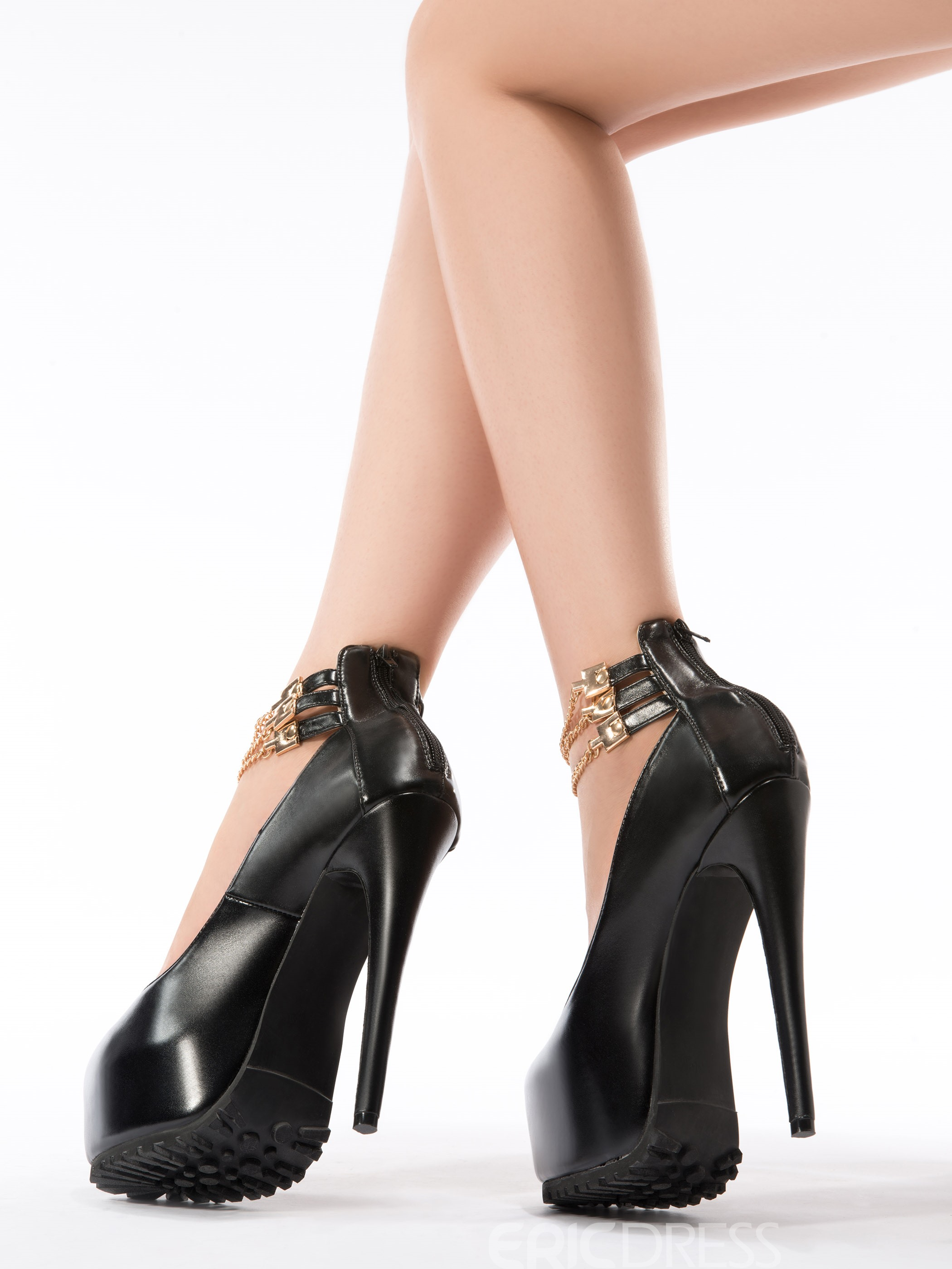 Fashionable Black Suede Ankle Strap Prom Shoes
