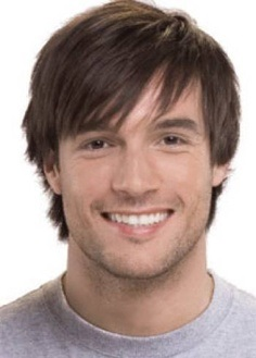 Ericdress Men's Wig Short Straight Synthetic Hair Capless