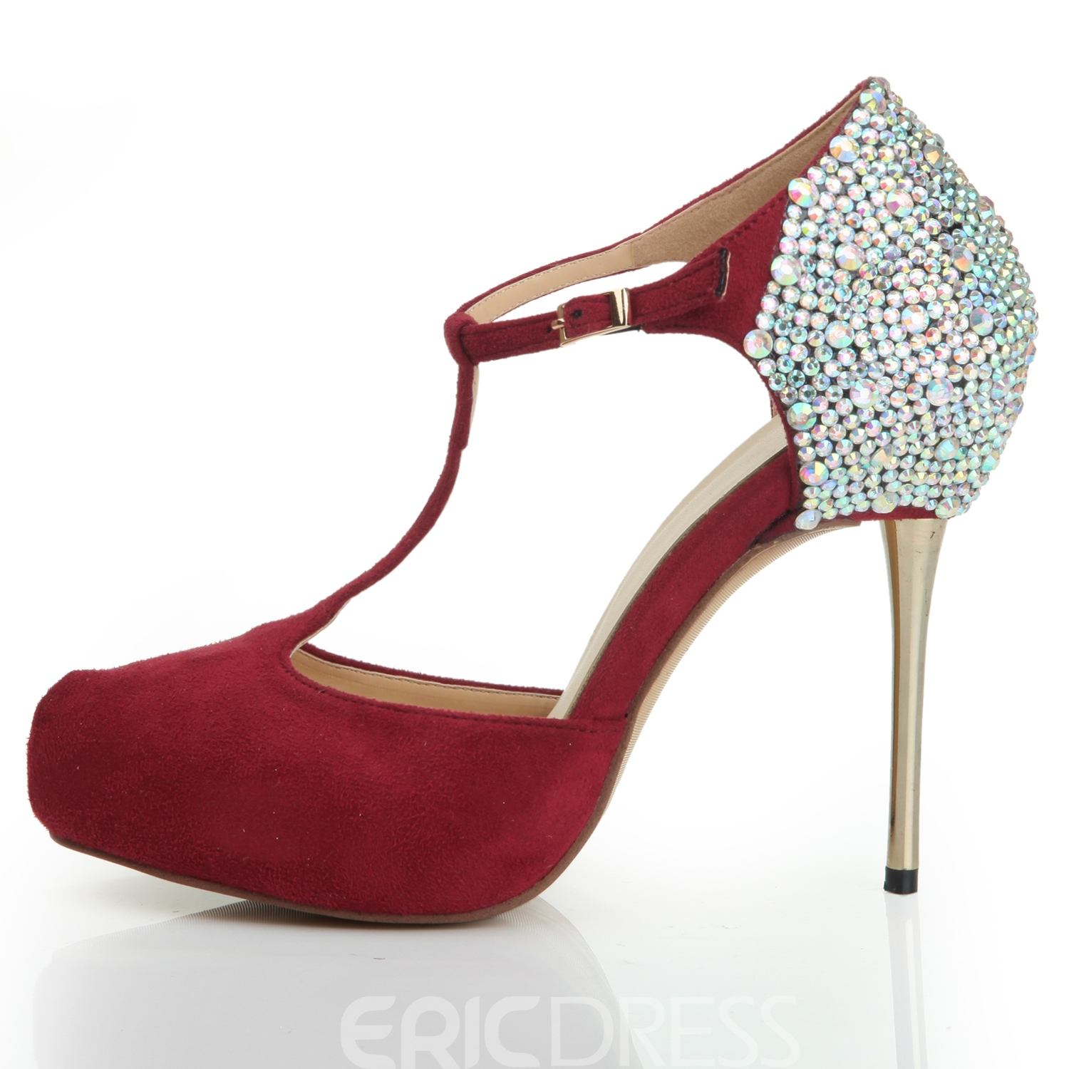 Charming Color Shining Stiletto Heels With Strap