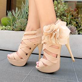 Elegant Flower High Heels Sandals