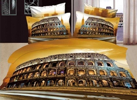 Beautiful Rome Colosseum Scenery Print 4 Piece Bedding Sets