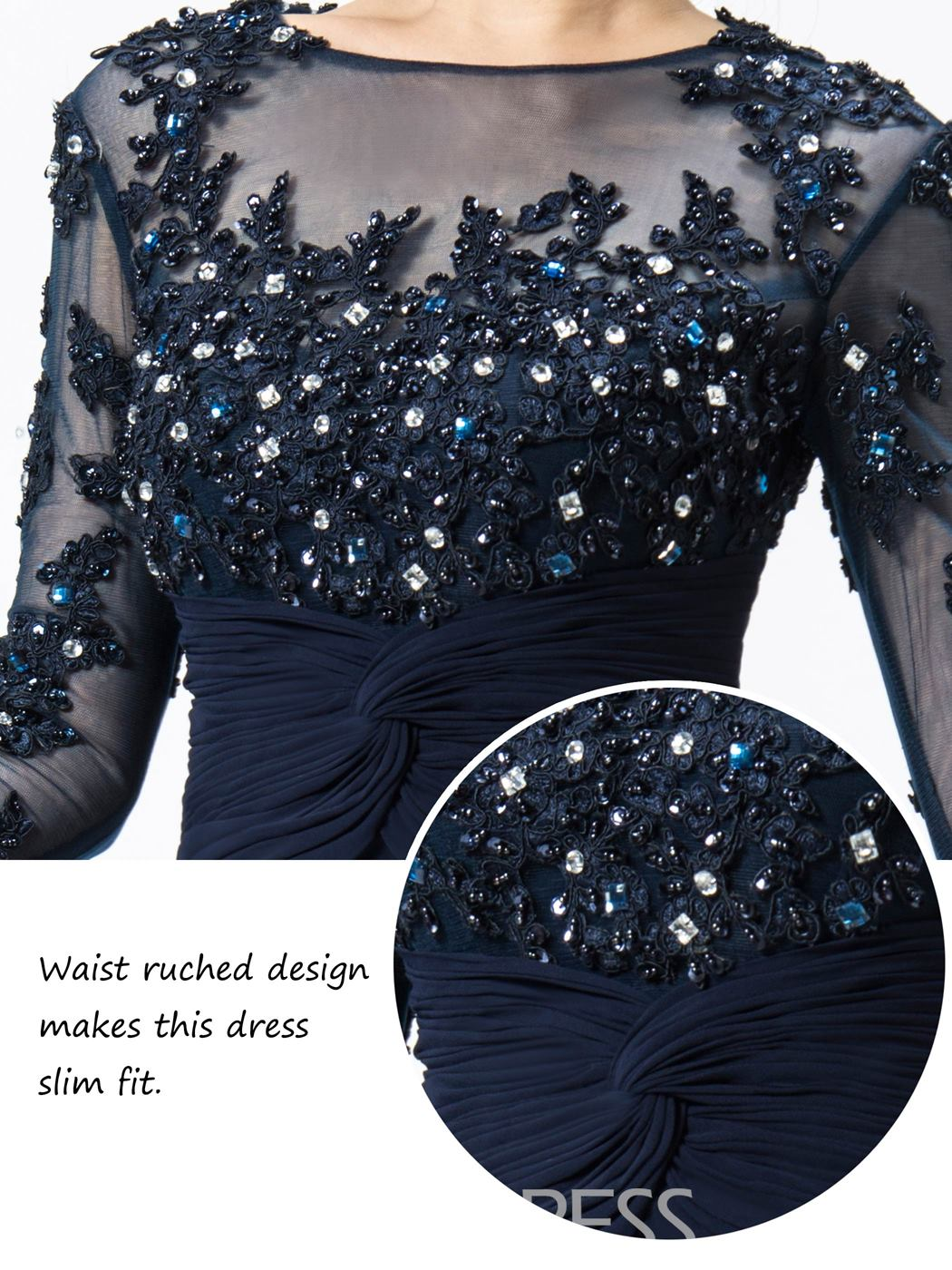 Ericdress Jewel Appliques/Sequins Mother Of The Bridal Dress