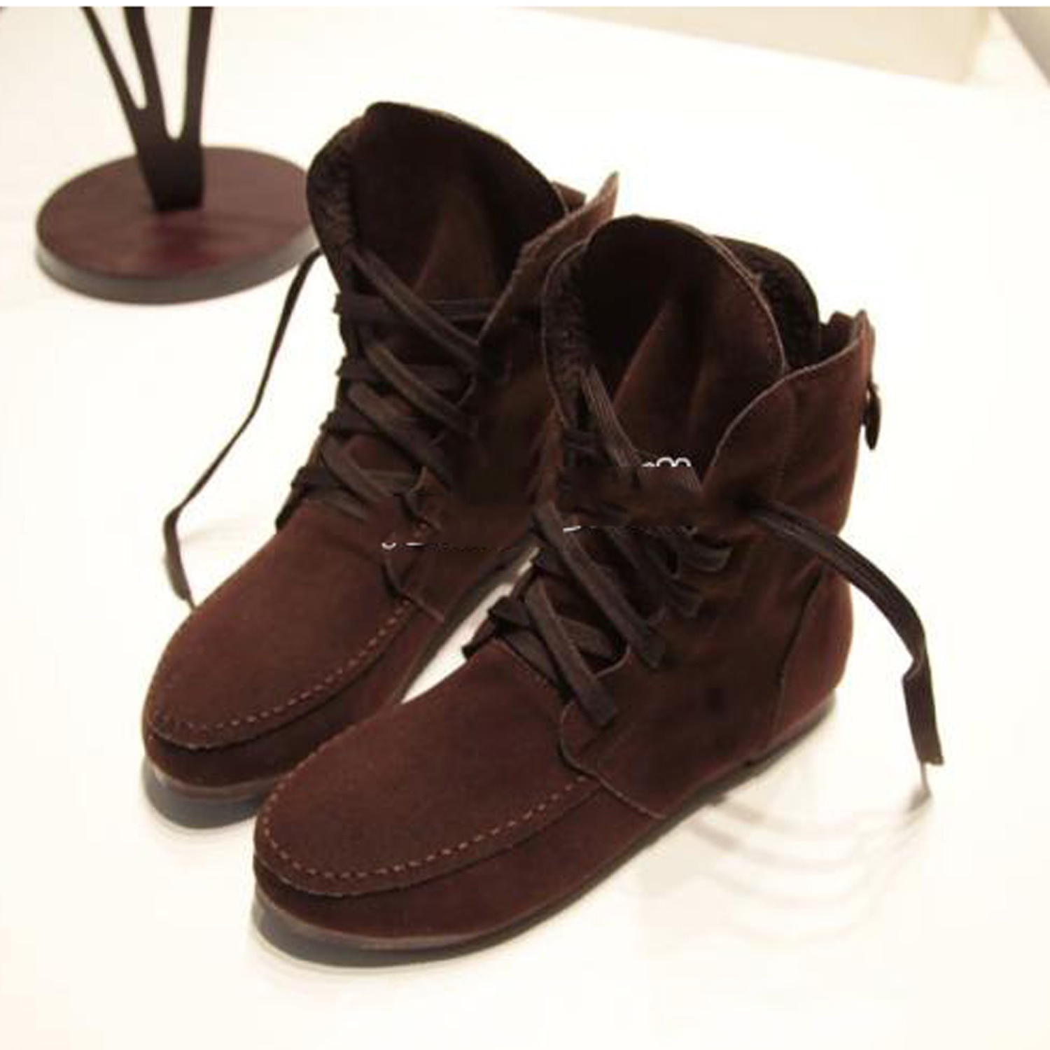 Sweet Warm Lace-Up Comfortable Martin Boots