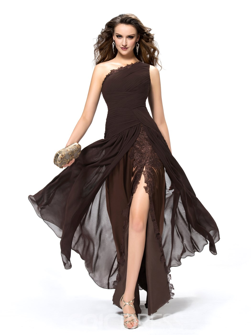 Timeless Ruffles Trupet One Shoulder Evening Dress