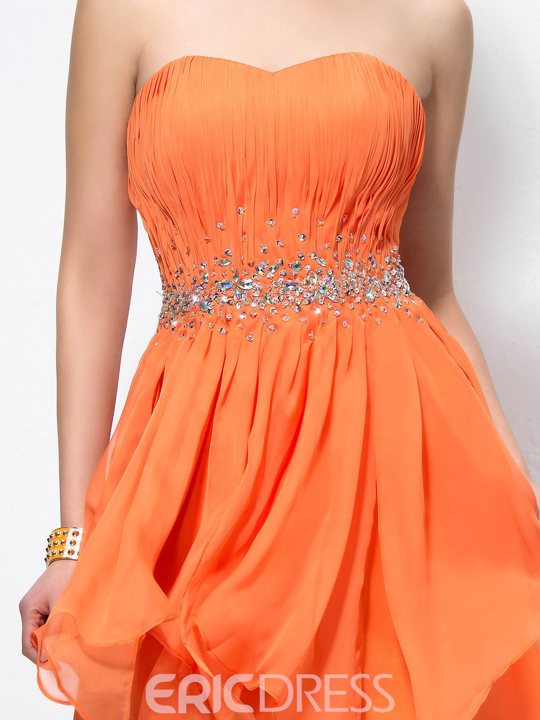 Beading Strapless A-Line Cocktail Dress