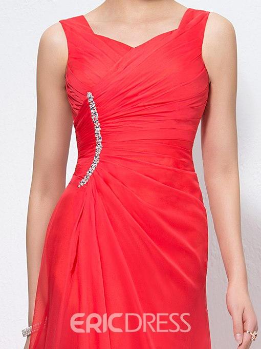 Charming A-Line Straps Zipper-Up Prom Dress