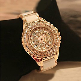 Fashion Elegant Rhinestone Ceramics Watch For Women