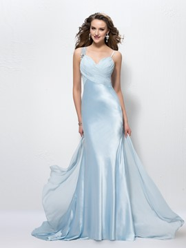 Fashion Elegant Straps Trumpet/Mermaid Floor Length Evening Dress