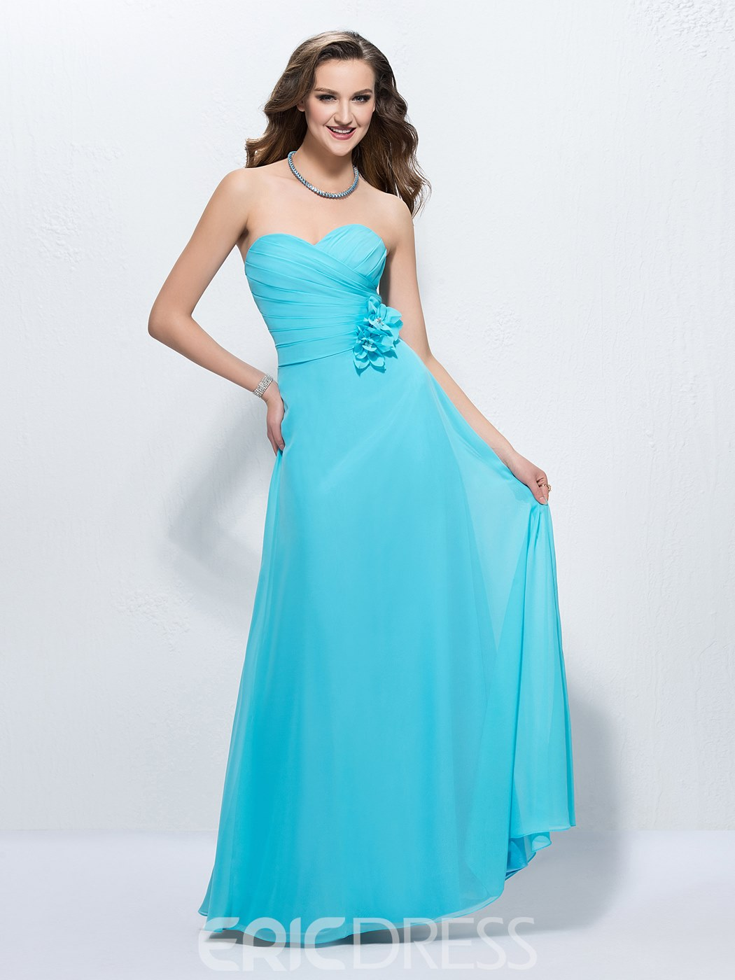 050c3cae7bd Ice Blue Strapless Prom Dress - Gomes Weine AG