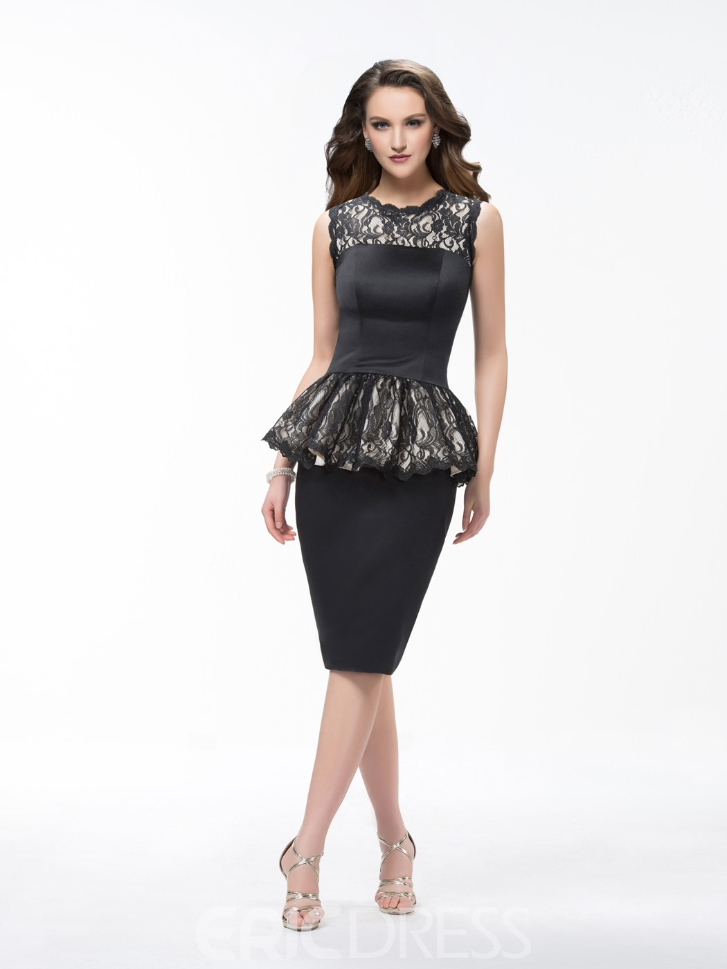 Elegant Sheath Knee Length Sleeveless Cocktail Dress