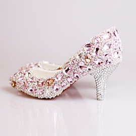 Ericdress Rhinestone Slip-On Wedding Shoes