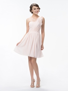 Ericdress One Shoulder A Line Ruffles Bridesmaid Dress