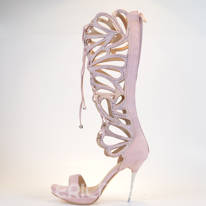 Ericdress Sexy Butterfly Cut-Outs Lace-Up High Heeled Sandals
