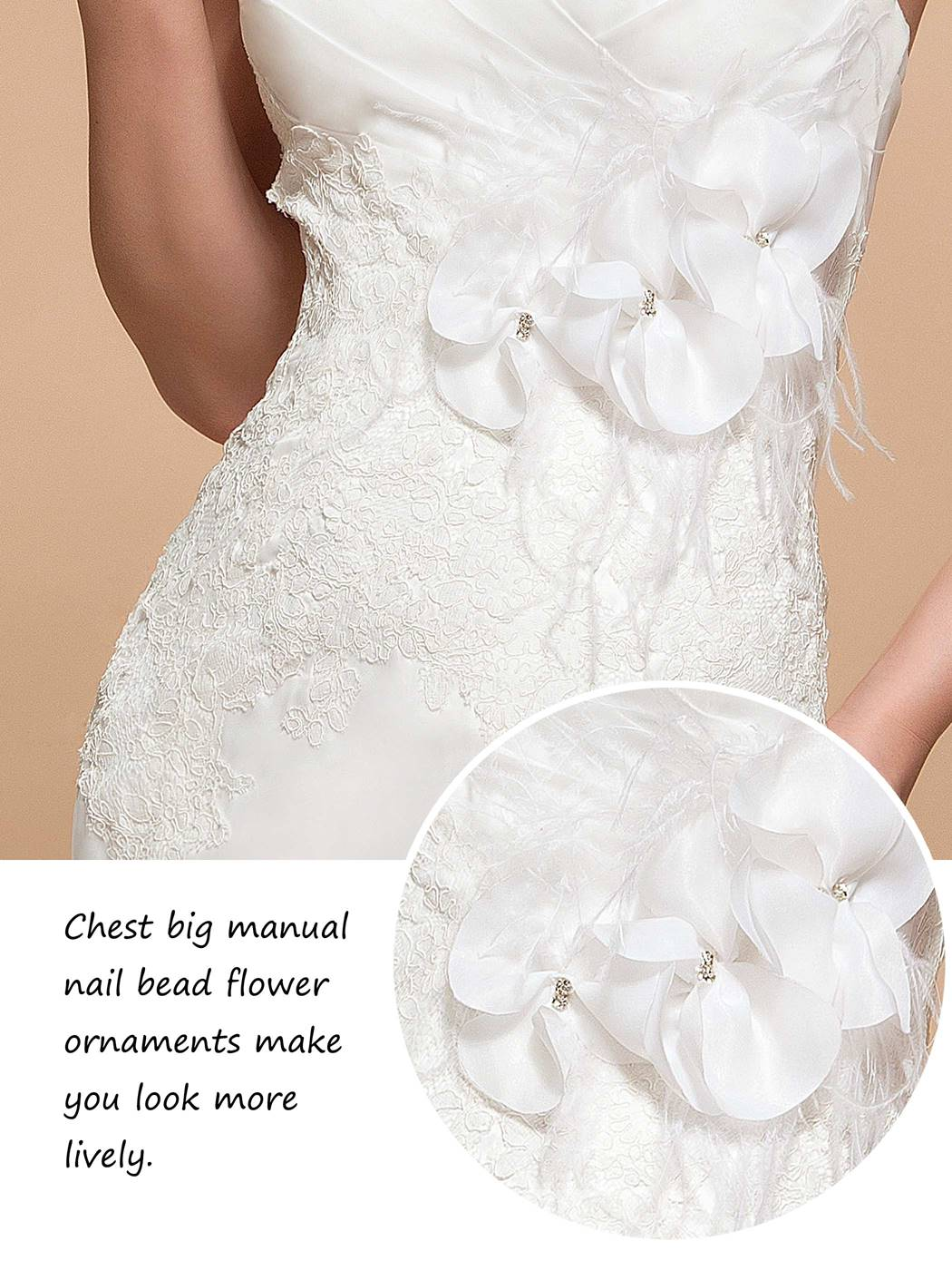 Amazing Court Train Flowers Sweetheart Button Trumpet Wedding Dress