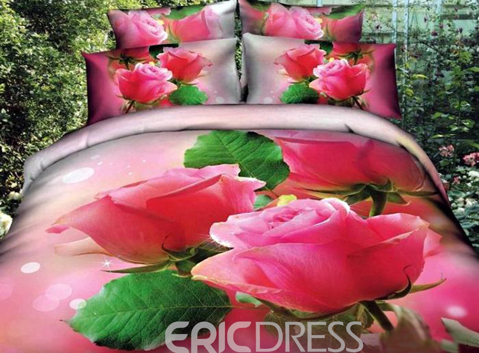 romantic blossoming roses 3d bedding sets 10894160 - ericdress