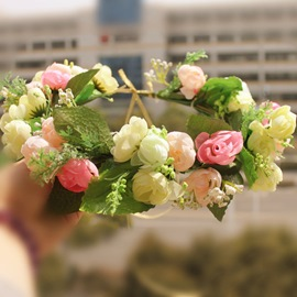 Wonderful Bosnia Design Simulation Bride Wreath/Lei With Ribbon