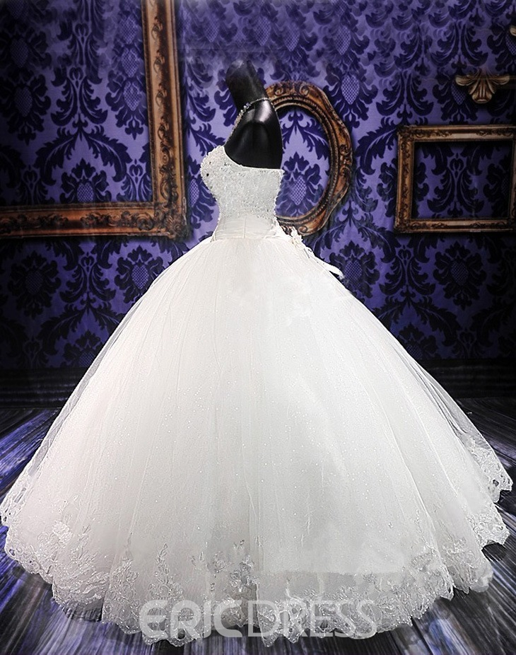 Ericdress Ball Gown Sweetheart Beading Flowers Wedding Dress