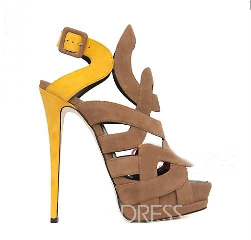 Roman Style Hollow-out SexyHigh-heeled Sandals