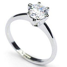 Luxurious Boutique Alloy with Imitation Diamond Ring