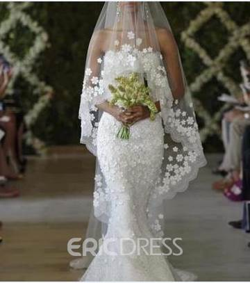 Ericdress One-Layer Lace Lace Edge Wedding Veil
