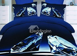 Top Class Decent Diamond 4 Piece Bedding Set
