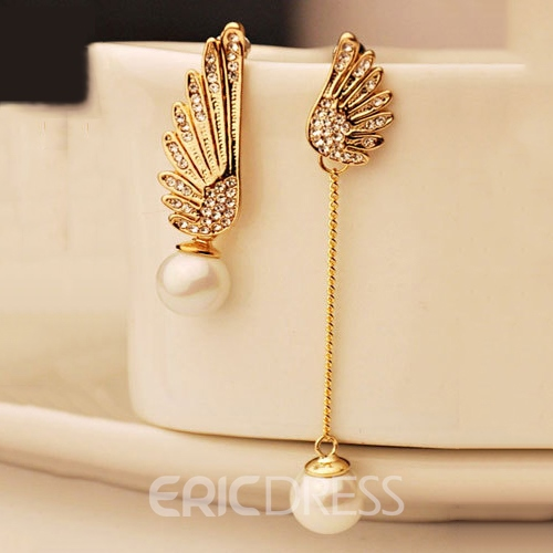 Ericdress Alloy Wing Party Earrings
