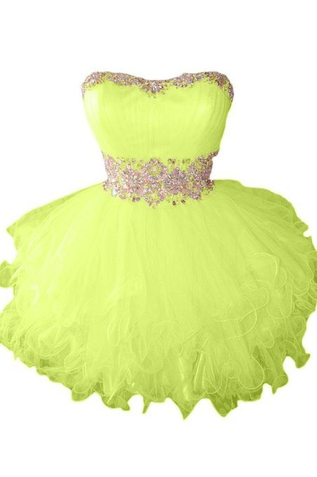 Pretty Ball Gown Sweetheart Beading Lace-up Short-Length Sweet 16 Dress