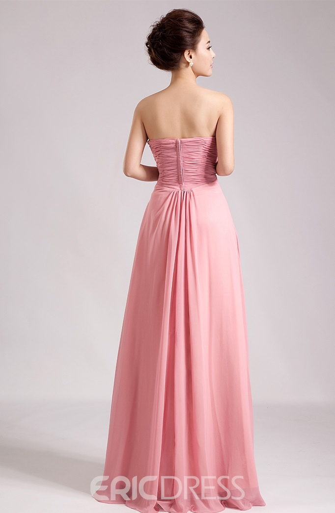 Gorgeous A-Line Scoop Appliques Floor-Length Charming Bridesmaid Dress