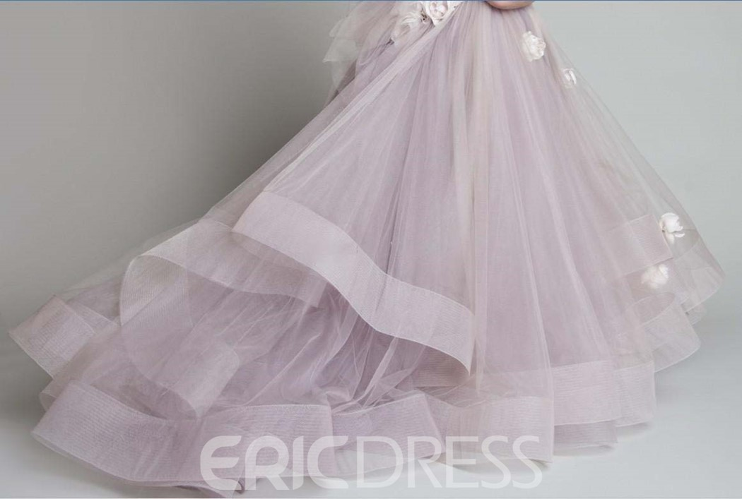 Ericdress Pretty Handmade flowers One-shoulder Flower Girls Dress