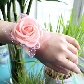 Brilliant Cloth Flowers Wedding/Bridal Wrist Corsage