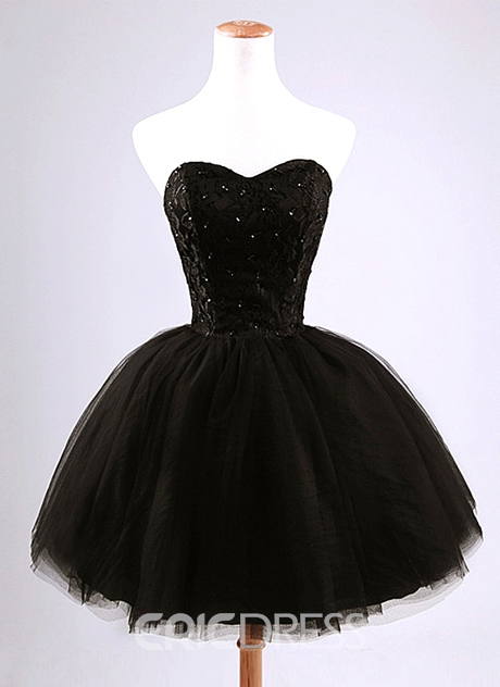 Pretty Strapless Beading Lace-Up Short Homecoming Dress