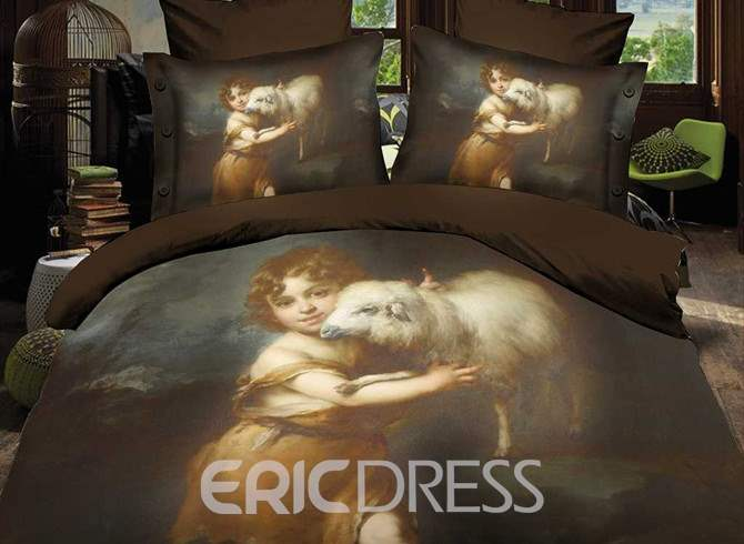 Ericdress Little Child with Sheep Print 3D Bedding Sets