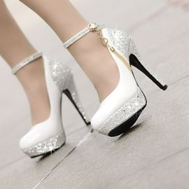Pretty High Heels Platform Tassel Wedding Shoes (Small One Yard)