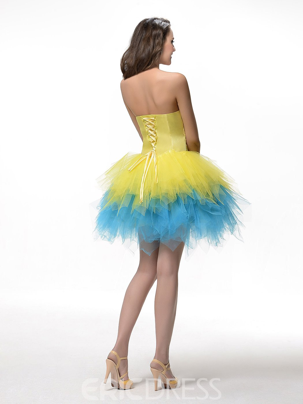 Comely Strapless A-Line Pleats Short Charming Homecoming Dress