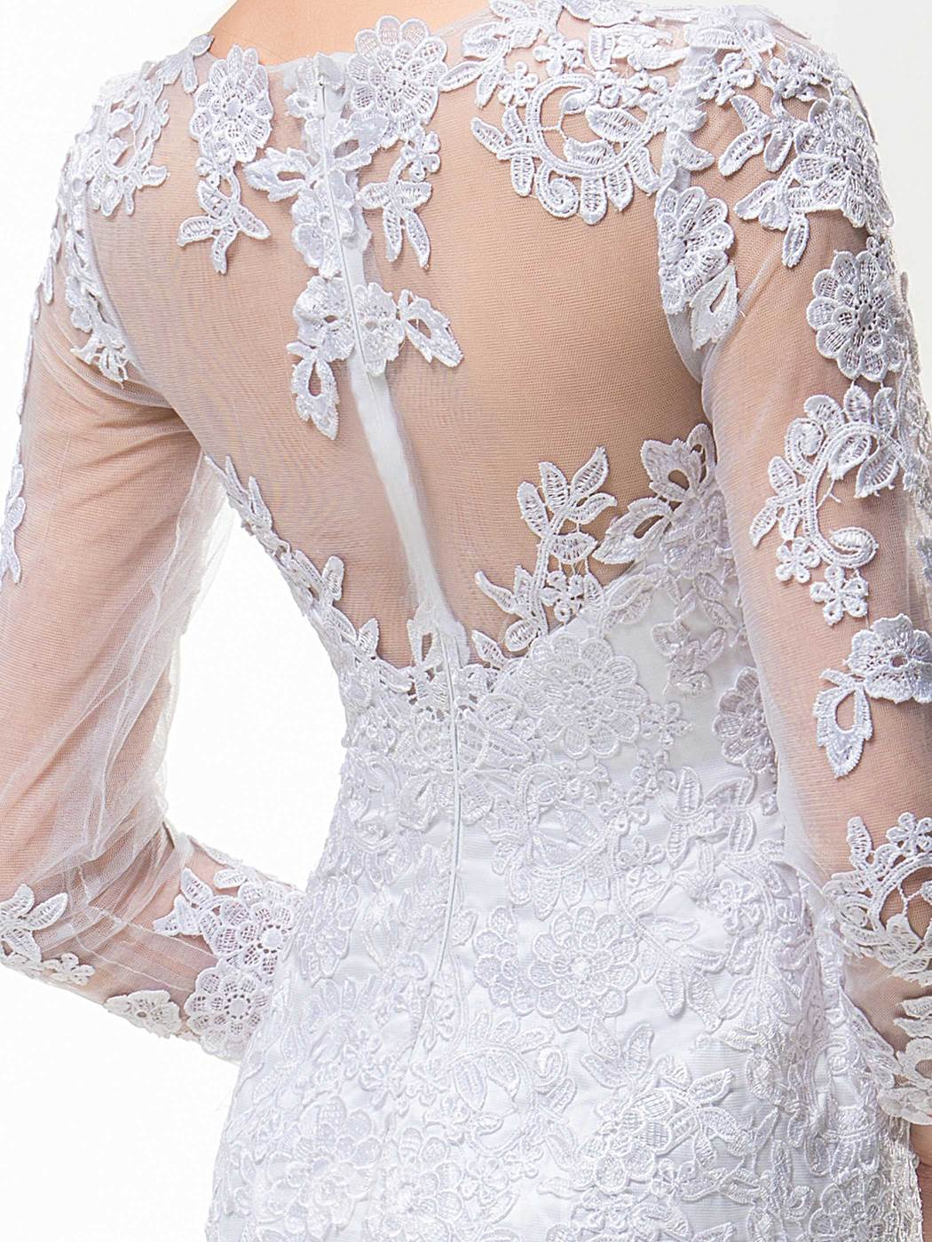 Sheath Jewel Appliques Short Charming Wedding Dress