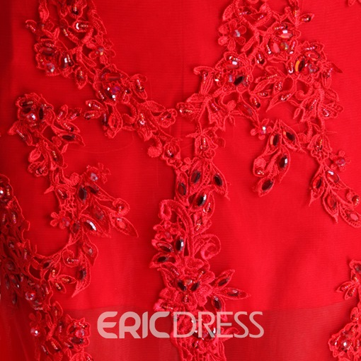 Stunning Mermaid Appliques Beading Sweetheart Lace-up Evening Dress