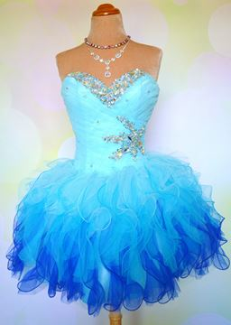 Pretty Sweetheart Beading Ruffles Lace-up Short Prom Dress