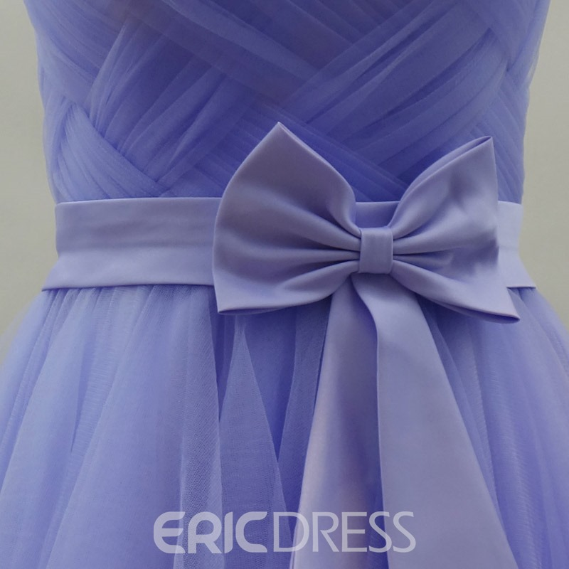 Sweet A-Line Strapless Bowknot Zipper-Up Homecoming/Sweet 16 Dress