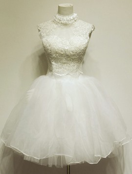 Jolie boule Homecoming/Sweet16 haute-cou dentelle robe