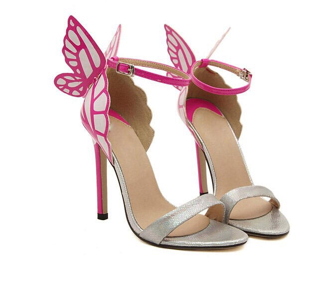 Beautiful Open Toe Butterfly Ankle Strap Sandals
