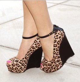 Ericdress Sexy Leopard Grain Wedge Sandals