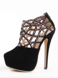 Brillant Hollow-Out strass talon aiguille Prom Shoes