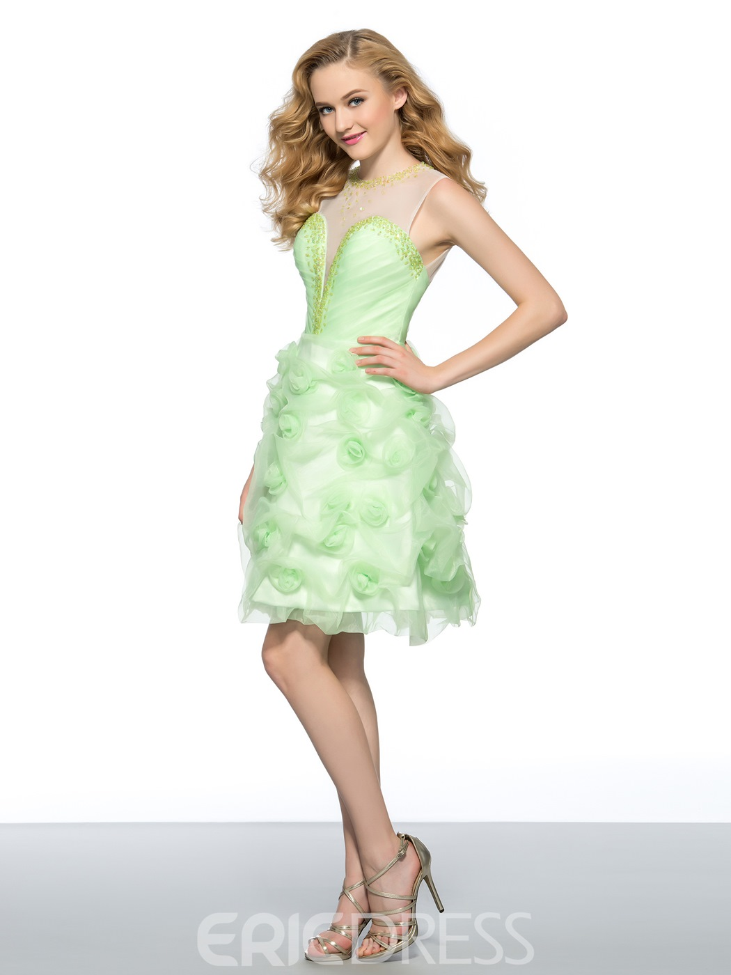 Ericdress A Line Backless Homecoming Dress With Beadings