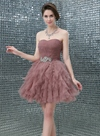 Ericdress A-Line Sweetheart Crystal Pleats Short Homecoming Dress