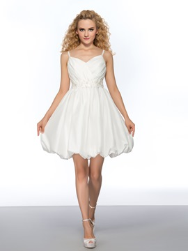 Pretty A-Line Spaghetti Straps Short Homecoming Dress