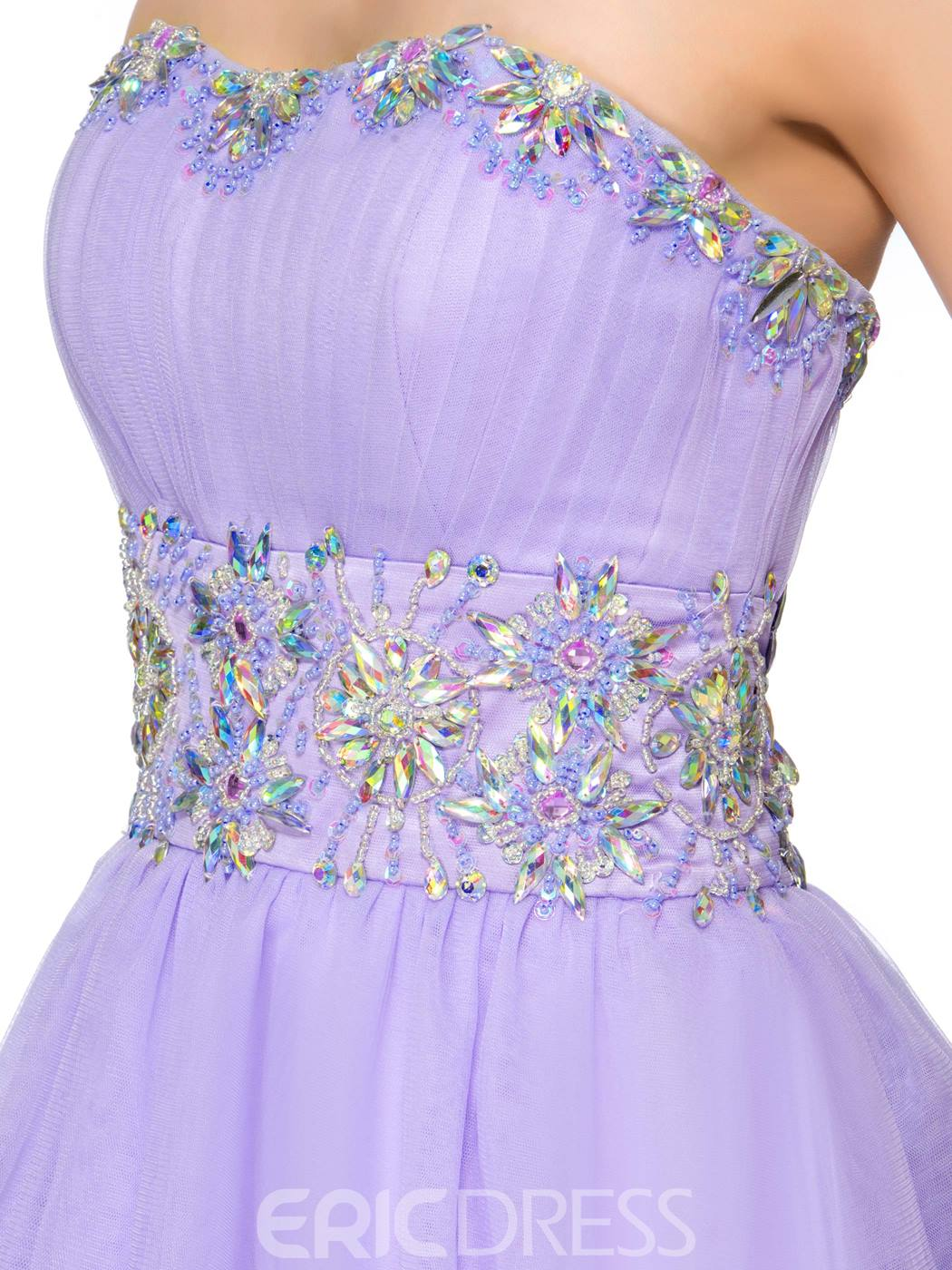 Ericdress Fancy Sweetheart Beading Tiered Lace-up Short Homecoming Dress