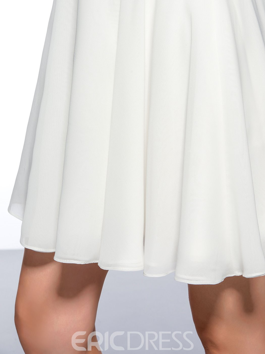 Concise High Neck Lace Short Homecoming Dress