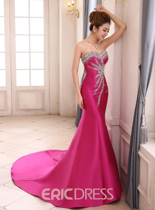 Graceful Sweetheart Mermaid Beading Lace-up Evening Dress