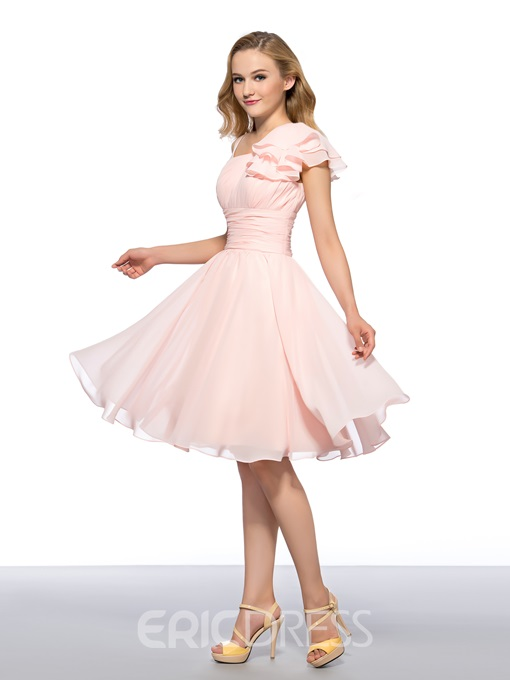 Fashion Cheap Concise Straps A-Line Zipper-Up Homecoming Dress